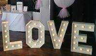 Decorative Details Wedding and Event Decoration Hire Gloucestershire Giant Light Up Love Letter Hire