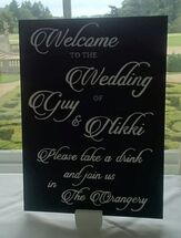 Decorative Details Wedding and Event Decoration Hire Gloucestershire Sign Hire