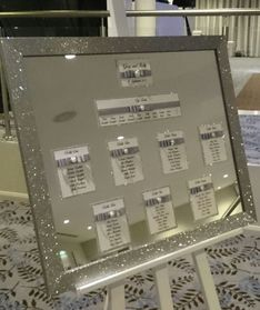 Decorative Details Wedding and Event Decoration Hire Gloucestershire Glitter Mirror Table Plan Hire