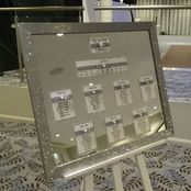 Wedding and Event Venue Decoration Hire Gloucestershire Glitter Mirror Table Plan