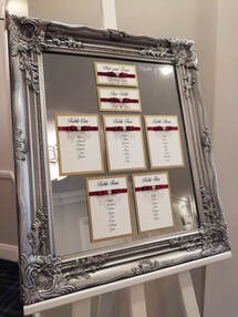Decorative Details Wedding and Event Decoration Hire Gloucestershire Mirror Table Plan Hire