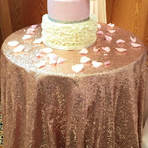 Wedding and Event Decoration Hire Gloucestershire Sequin Table Cloth